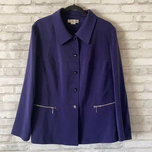 Dressbarn Woman Blazer Jacket Purple 18W